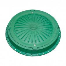 Люк 5 тонн зелёный с замком